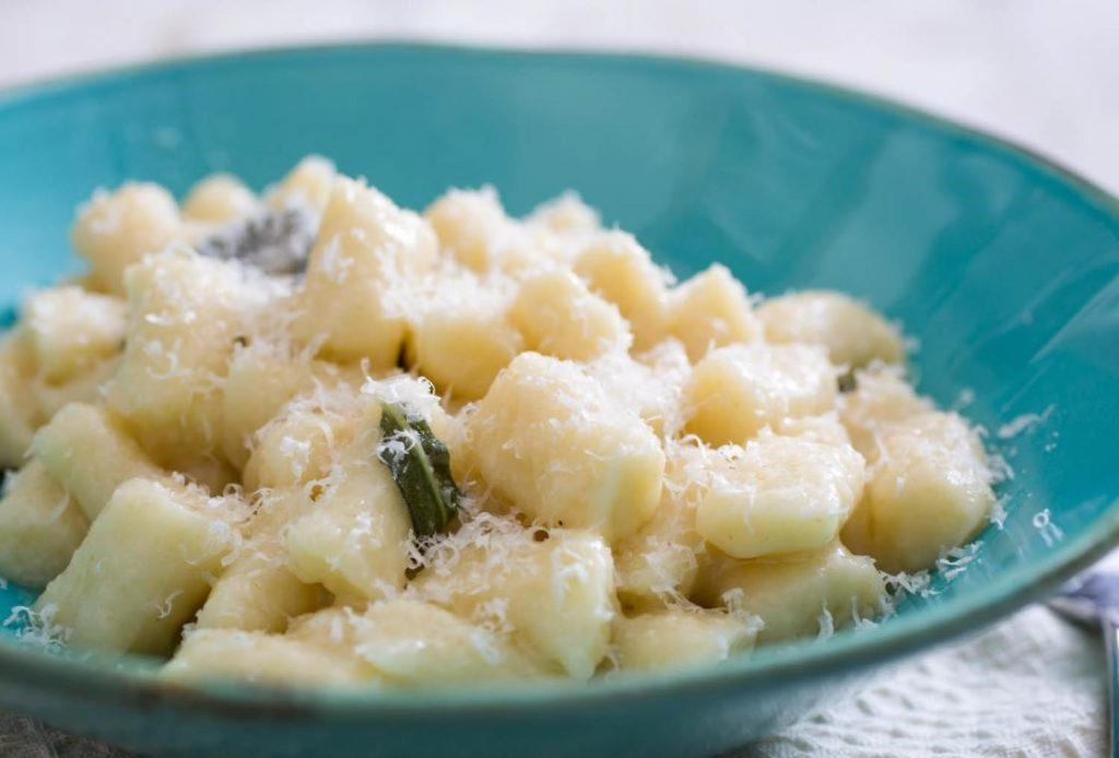 Gnocchi with butter, sage and Parmesan cheese
