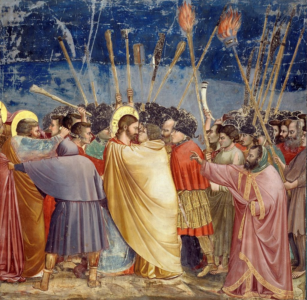 One of Giotto's frescoes: The Arrest of Christ (Kiss of Judas)