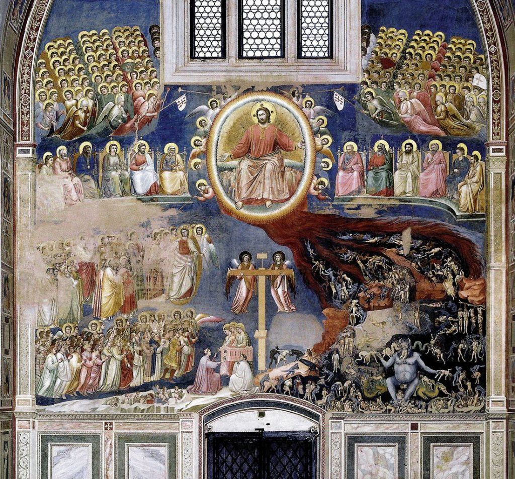 One of Giotto's frescoes: The Last Judgement